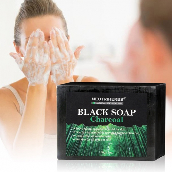Мыло от угрей Black Soap Charcoal Neutriherbs