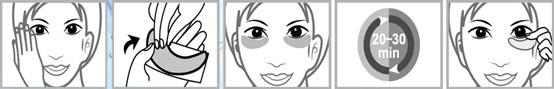 правила применения увлажняющих масок Q10 Collagen Eye Mask
